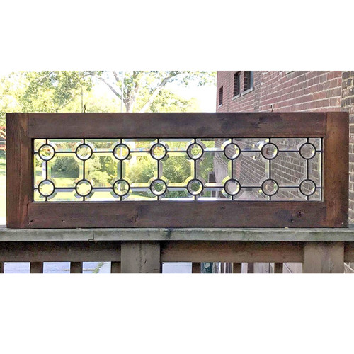 G17064 - Antique Victorian Beveled Glass Transom
