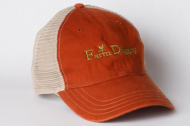 Farm Diggity Hat / Texas Orange /Khaki