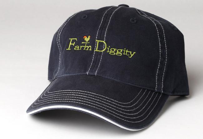 Farm Diggity Hat / Navy & White