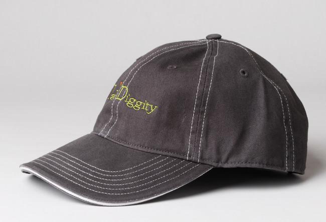 Farm Diggity Hat / Grey & White