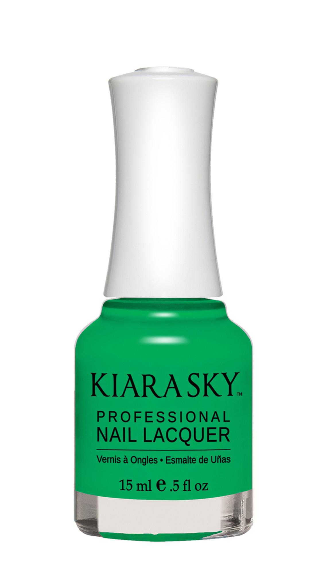 NAIL LACQUER - N448 GREEN WITH ENVY - Kiara Sky Professional Nails
