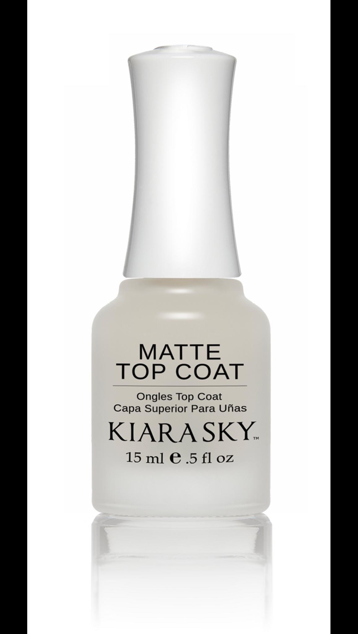 NAIL LACQUER - MATTE TOP COAT - Kiara Sky Professional Nails