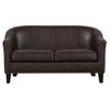 Brown Faux Leather Upholstered Settee- DS-A250-680-118
