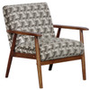 Wood Frame Accent Chair in Prism Flannel- DS-D030003-486