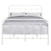 All-in-One Curved Queen Metal Bed - Cream- DS-2645-290-3
