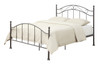 "All-in-One Brown ""Scroll"" Metal Bed Queen - DS-2646-290"