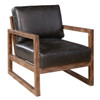 Delancy Arm Chair - Distressed Black Leather