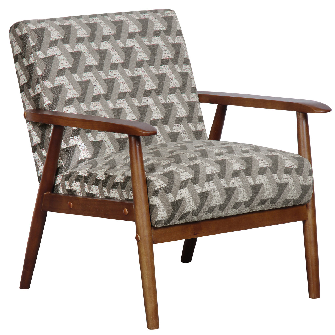 Wood Frame Accent Chair in Prism Flannel - DS-D030003-486 - North ...