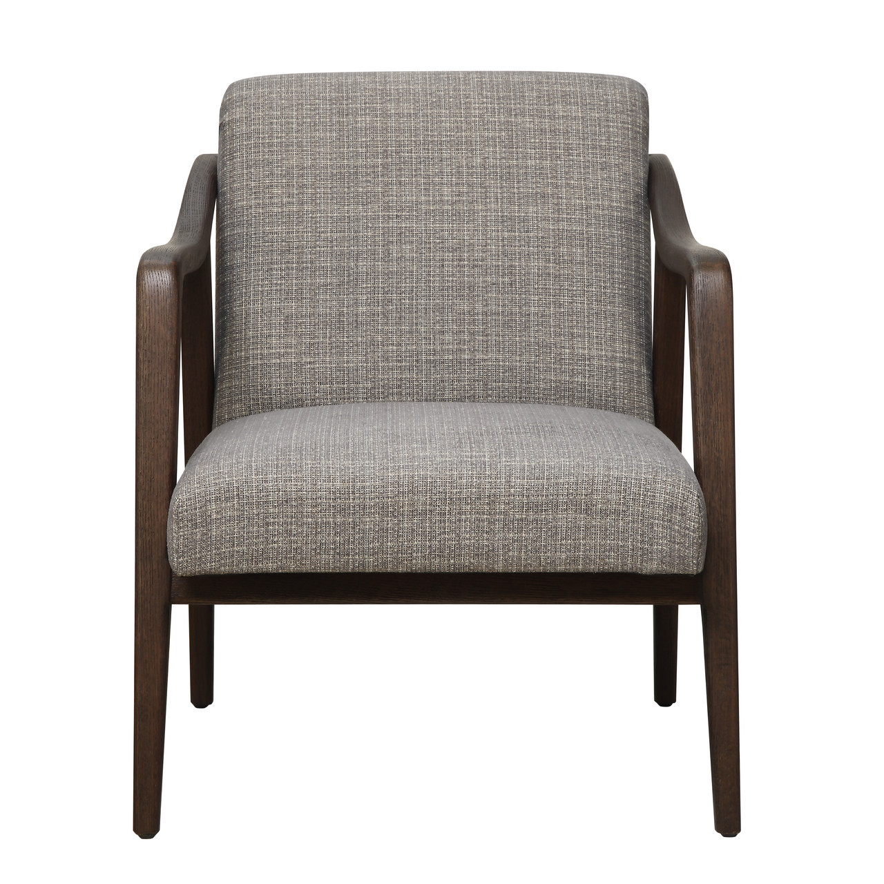 Mid Century Wood Frame Accent Chair in Kendrick Driftwood - DS ...