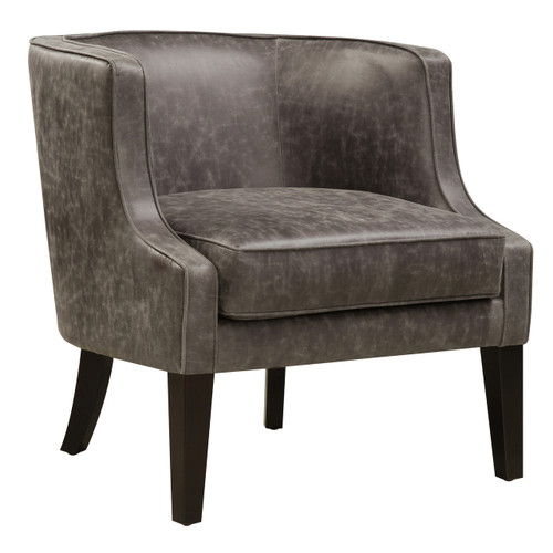 Pellini Thunder Leather Upholstered Arm Chair  - DS-2521-900-388