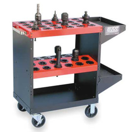 Huot 13940 | CNC Toolscoot Tool Cart for 40 Taper Tool Holders CAT40 BT40 NMTB