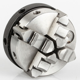 "All Industrial 47752 | Self-Centering Lathe Chuck Plain Back 2"" 4-Jaw M14-1 Hardened"
