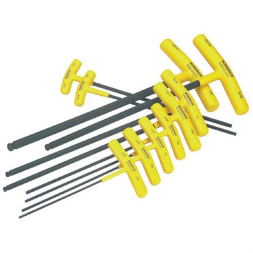 Bondhus 13138   10pc Cushioned Grip T-Handle Hex Tool Set