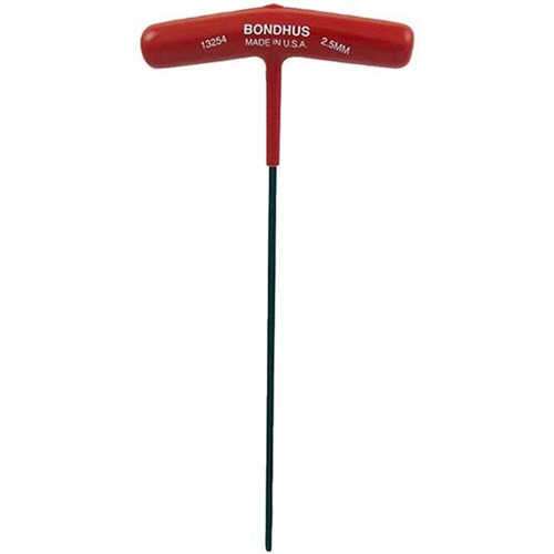 Bondhus 13254 | 2.5mm Cushioned Grip T-Handle Hex Tool