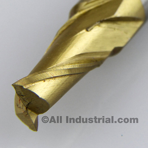 "All Industrial 14212 | 5/16"" High Speed Steel 2 Flute TiN Coated End Mill"