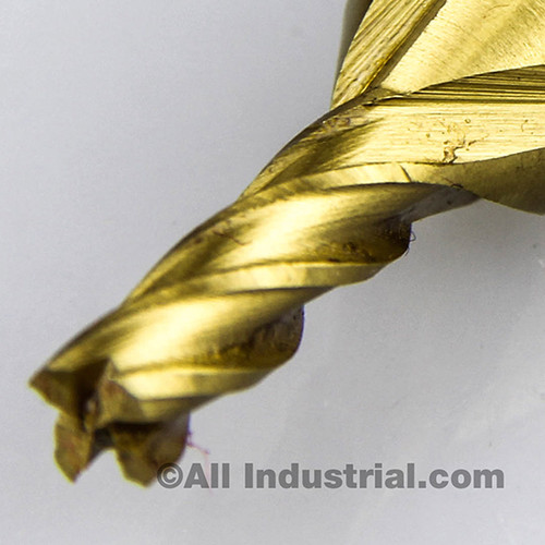"All Industrial 14502 | 3/16"" High Speed Steel 4 Flute TiN Coated End Mill"