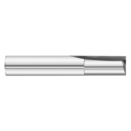 "Fullerton Tool 12142 | 1/4"" 2 Flute Solid Carbide Uncoated Single End Square End Mill"