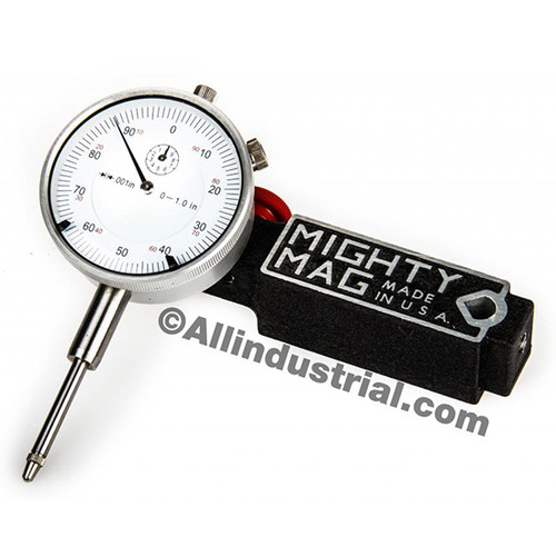 "Mighty Mag MIG-400-1-SET | 0-1"" Dial Indicator Combo Set Inspection Holder Magnetic Base Kit"