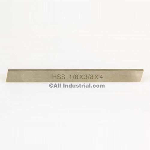 """All Industrial 19750   1/8"""" X 3/8"""" X 4"""" HSS Tool Bit Rectangular Lathe Fly Cutter Mill Blank"""