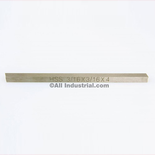 """All Industrial 19752   3/16"""" X 3/16"""" X 4"""" HSS Tool Bit Rectangular Lathe Fly Cutter Mill Blank"""