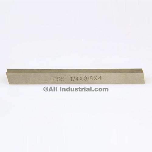 """All Industrial 19758   1/4"""" X 3/8"""" X 4"""" HSS Tool Bit Rectangular Lathe Fly Cutter Mill Blank"""