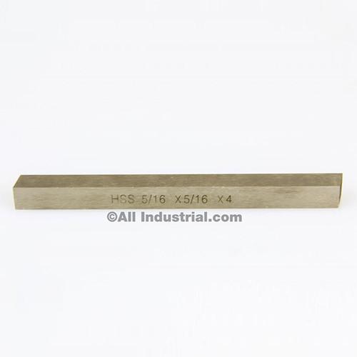 """All Industrial 19762   5/16"""" X 5/16"""" X 4"""" HSS Tool Bit Rectangular Lathe Fly Cutter Mill Blank"""