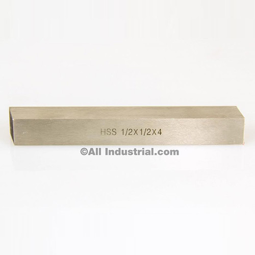 """All Industrial 19766   1/2"""" X 1/2"""" X 4"""" HSS Tool Bit Square Lathe Fly Cutter Mill Blank"""