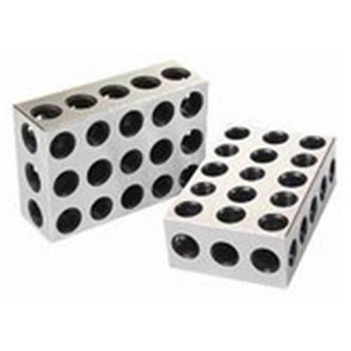 "All Industrial 55520 | 1 Matched Pair Ultra Precision 25-50-75mm Blocks 23 Holes .0001"" Machinist"