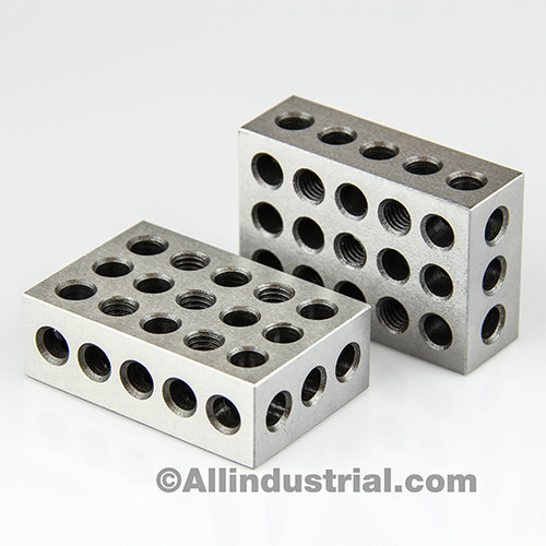 "All Industrial 55540 | 2-4-6 Blocks 23 Holes Matched Pair Ultra Precision .0006"" Machinist 246 Jig"