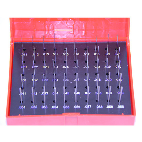 "All Industrial 55130 | 50pc M0 .011-.060"" Plug Pin Gage Set Plus (+) Steel .0002"" Tolerance"