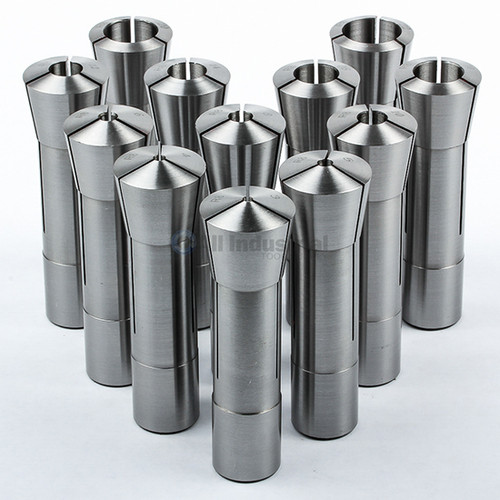 All Industrial 41056 | 12pc R8 Collet Set Metric 3mm to 22mm High Precsion for Bridgeport 12pc