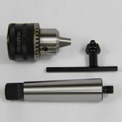 "All Industrial 49942 | 1/64-1/4"" Capacity Threaded Drill Chuck & 3/8""-24-3MT Arbor for Woodworking MT3"