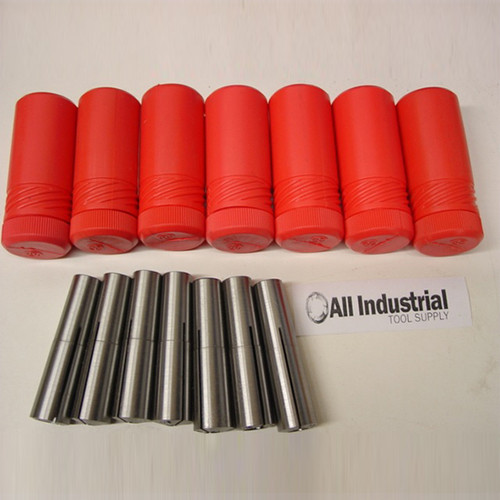 "All Industrial 41300 | #2 Morse Taper Collet 7pc . Set 1/8"" - 1/2"" 2MT MT2 3/16 1/4 3/8 Round Chuck"