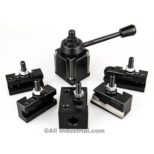 "All Industrial 47026 | OXA Tool Post Set 6-9"" Swing Mini Quick Change CNC Lathe Holder Wedge"