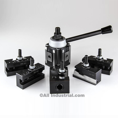 All Industrial 47425   CA Piston Tool Post Set CNC High Precision Quick Change Lathe Holders 400 Series