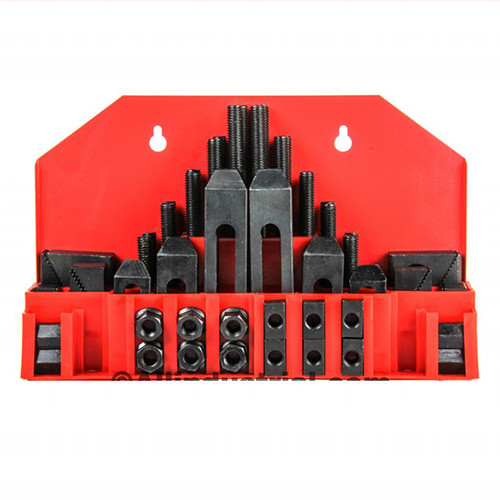 "All Industrial 48010 | 58pc Pro-Series 5/8"" T-Slot Clamping Kit Bridgeport Mill Set Up Set 1/2-13"