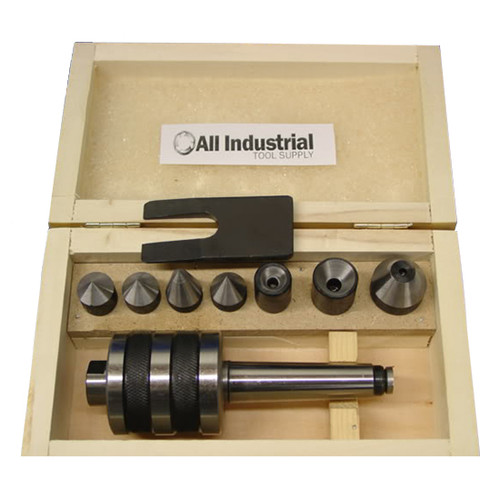 All Industrial 46012 | MT2 Live Center Set Morse Taper 2MT Triple Bearing Lathe Medium Duty CNC