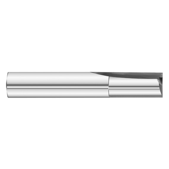 "Fullerton Tool 12146 | 3/8"" 2 Flute Solid Carbide Uncoated Single End Square End Mill"