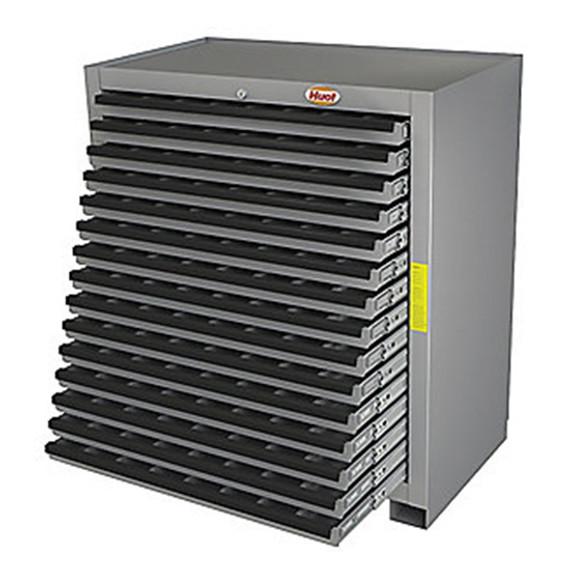 huot 13525 | super cutting tool storage cabinet, 15 drawers, bb