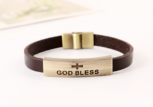 unisex genuine men braided gift real valentine ladies wristband ebay bracelet bhp leather
