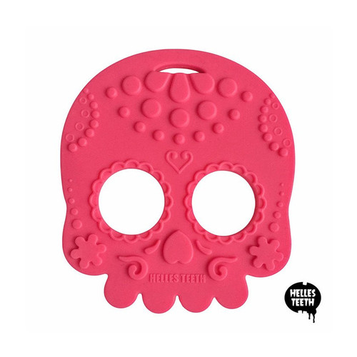 Sugar Skull Teething Toy - Pink