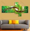 Kongfu Style Green Base Painting