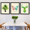 Abstract Deer, Butterfly and Tree