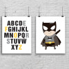 Superhero Batman and Alphabets