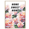 Home Sweet Home Floral Quote Canvas Print