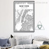 New York City Map Canvas Print
