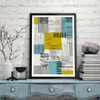 Abstract Geometric Blocks and Lines Design Wall Decor