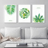 Nordic Green Tropical Leaves