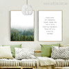 Pine Forest, Your Mind is a Powerful Thing Inspiring Quote Design