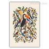 Retro Colorful Birds Fresco Wall Art Decor